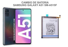 Cambiar / Sustitucion Bateria Samsung Galaxy A51 SM-A515F