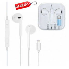 AURICULARES CON MICROFONO. CONECTOR LIGHTNING  IPHONE 5,5S,6,6S,7,8,X,XR,XS,MAX,11,PRO ,IPAD mini,air, IPOD ( MANOS LIBRES )