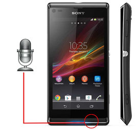 Reparación Microfono Sony Xperia  L S36H,C2105,C2104