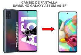 Cambiar / Reparar pantalla completa Samsung Galaxy A51 SM-A515F