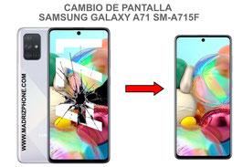Cambiar / Reparar pantalla completa Samsung Galaxy A71 SM-A715F