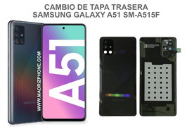 Cambiar / Reparar Tapa Trasera Samsung Galaxy A51 SM-A515F