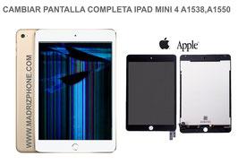Cambiar / Reparar Pantalla Completa. Cristal tacti + lcd interna  Apple IPAD MINI 4 A1538 , A1550