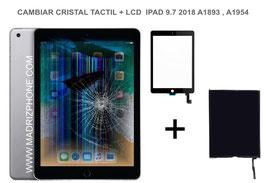 Cambiar / Reparar Pantalla Completa. Cristal tacti + lcd interna Apple ipad 9.7 2018  A1893 , A1954
