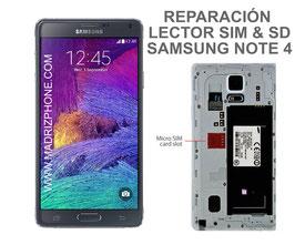 Cambiar / Reparar Lector Tarjeta SIM y SD Samsung Galaxy NOTE 4 SM-N910F