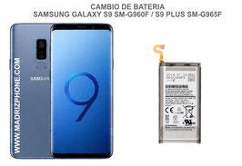 Cambiar / Reemplazo Bateria Samsung Galaxy S9 SM-G960F / S9 Plus SM-G965F