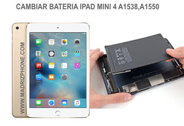 Cambiar / Reparar Bateria Apple IPAD MINI 4 A1538 , A1550