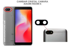 Cambiar / Reparar Cristal camara trasera Xiaomi Redmi 6