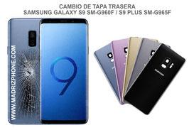 Cambiar / Reemplazo Tapa de cristal Trasera Samsung Galaxy S9 SM-G960F / S9 Plus SM-G965F