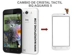 Cambiar / Reparar Cristal Tactil BQ AQUARIS 5 / Fnac Phablet 5