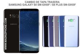 Cambiar / Reparar Tapa de cristal Trasera Samsung Galaxy S8 G950f / S8 Plus G955f
