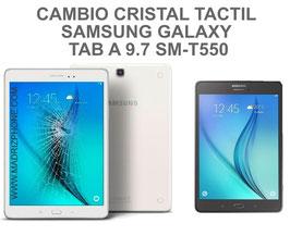 Cambiar / Reparar cristal tactil pantalla Samsung Galaxy TAB A 9.7 SM-T550 , SM-T555