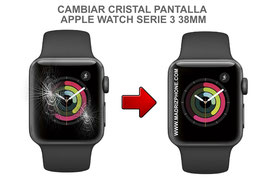 Cambiar / Reparar Cristal de pantalla APPLE WATCH Serie 3 38MM ( A1860 / A1889 / A1890 / A1858 )