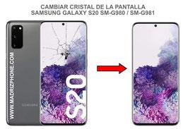 Cambiar / Reparar Cristal de la pantalla Samsung Galaxy S20 SM-G980F / SM-G981F
