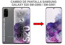 Cambiar / Reparar pantalla completa Samsung Galaxy S20 SM-G980F / SM-G981F
