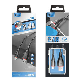CABLE MICRO USB  2.0A 1 METRO PARA CARGAR Y DATOS (MICROUSB) ,SAMSUNG,HUAWEI,XIAOMI,LG