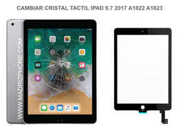 Cambiar / Reparar Cristal Tactil Apple Ipad 9.7 2017 A1822 , A1823