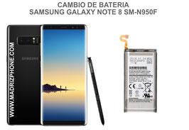 Cambiar / Reemplazo Bateria Samsung Galaxy Note 8 SM-N950F