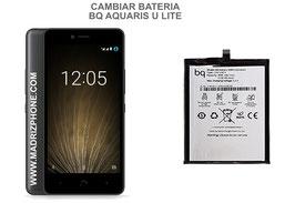 Cambiar / Sustituir Bateria BQ AQUARIS U LITE Calidad Premium