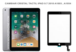 Cambiar/Reparar  Cristal Táctil Apple ipad 9.7 2018  A1893 , A1954