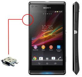 Reparación conector CARGA Sony Xperia  L S36H,C2105,C2104