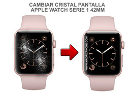 Cambiar / Reparar Cristal de pantalla APPLE WATCH Serie 1 A1803 42MM