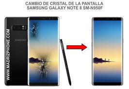 Cambiar / Reparar Cristal de la pantalla Samsung Galaxy Note 8 SM-N950F