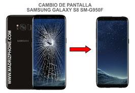 Cambiar / Reparar pantalla completa Samsung Galaxy S8 SM-G950f