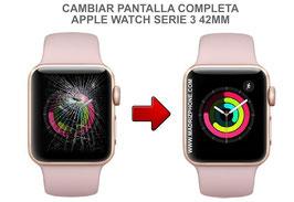 Cambiar / Reparar Pantalla completa ( CRISTAL + LCD ) APPLE WATCH Serie 3 42MM ( A1859 / A1861 / A1891 / A1892 )