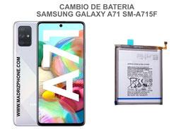 Cambiar / Sustitucion Bateria Samsung Galaxy A71 SM-A715F