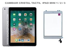 Cambiar / Reparar Cristal Tactil Apple iPAD Mini 1 / 2 / 3 ( A1432, A1454, A1455 , A1489 , A1490 , A1491 , A1599 , A1600 )