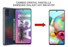 Cambiar / Reparar Cristal de la pantalla Samsung Galaxy A51 SM-A515F