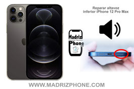 Reparar / Cambiar altavoz inferior de música Apple iPhone 12 Pro Max