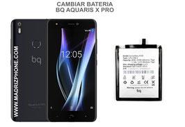 Cambiar / Sustituir Bateria BQ AQUARIS X PRO Calidad Premium