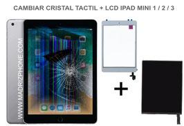 Cambiar / Reparar Pantalla Completa. Cristal tacti + lcd interna  Apple iPAD Mini 1 / 2 / 3 ( A1432, A1454, A1455 , A1489 , A1490 , A1491 , A1599 , A1600 )