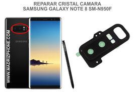 Cambiar / Reemplazo Cristal cámara trasera Samsung Galaxy  Note 8 SM-N950F