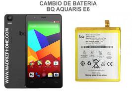Cambiar / Sustituir Bateria BQ AQUARIS E6 Calidad Premium