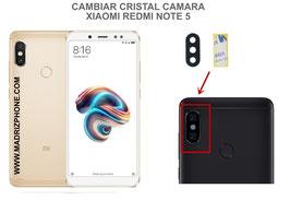 Cambiar / Sustituir Cristal camara trasera Xiaomi Redmi Note 5