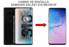 Cambiar / Reparar pantalla completa Samsung Galaxy S10 SM-G973F