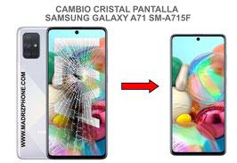 Cambiar / Reparar Cristal de la pantalla Samsung Galaxy A71 SM-A715F