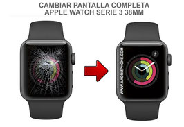 Cambiar / Reparar Pantalla completa ( CRISTAL + LCD ) APPLE WATCH Serie 3 38MM ( A1860 / A1889 / A1890 / A1858 )