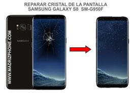 Cambiar / Reparar el Cristal de la Pantalla Samsung Galaxy S8 SM-G950f