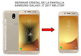 Cambiar / Reparar Cristal de lapantalla SAMSUNG GALAXY J7 2017 SM-J730F