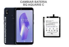 Cambiar / Sustituir Bateria BQ AQUARIS C Calidad Premium