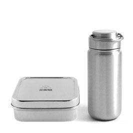 Eco Brotbox Schulstarter Set- Trinkflasche und Lunchbox