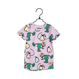 Martinex Pippi Langstrumpf T-Shirt mit Pippi und kleiner Onkel rot/ blau