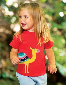 Frugi Kurzarm T-Shirt tolle Kamel Stickerei