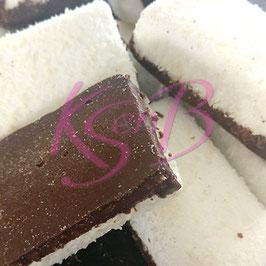 Kokos spekken met laagje cacao-chocolade