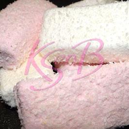 Roze en witte spekken met kokos