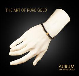 ARMBAND VULCANO / Naturlava mit Feingold 999.9 / Bracelet Lava with Pure Gold 24K / UNISEX